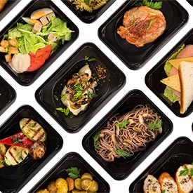 Photo of takeout food in containers